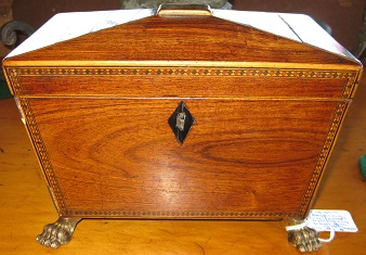 C1830's Regency Mahogany Tea Caddy