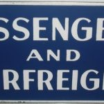 C1950's Passenger & Airfreight Enamel Sign