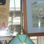 French Glass & Brass Light Shade