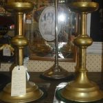 C19th Brass Maitland Jail Office Candle Sticks