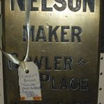 "C1900's ""Nelson Maker, Gawler Place, Adelaide"" Plaque"