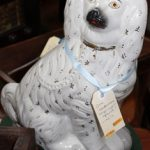 C19th Staffordshire Spaniel Statue