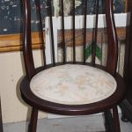 C1900's High Back Spindle Chair