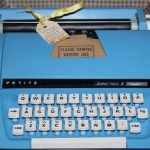 Vintage Petite Feather Touch Typewriter