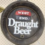 Vintage West End Draught Beer Advertising Plaque