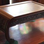 C19th Chinese Dragon Carved Table