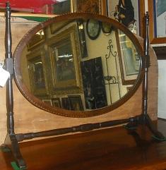 C1800's Inlaid Dressing Mirror