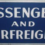 C1950's Passenger & Airfreight Enamel Sign