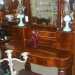 C1860's Flame Mahogany Dressing Table