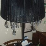 Classic Chrome & Crystal Black Shade Lamp