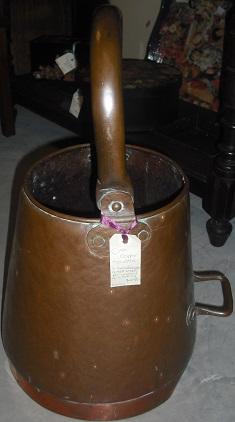 C19th Copper Scuttle