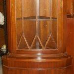 C1940's Mahogany Corner Display Cabinet