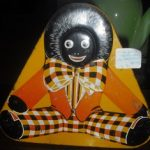C1930's Orange Golliwog Sweets Tin