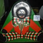 C1930's Green Golliwog Sweets Tin