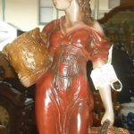 C1890's French Lady Lamp