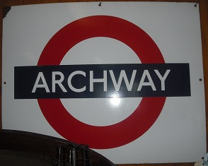 C1960's Vintage Archway Enamel Railways Sign