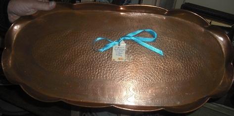 C1890's English Copper Tray