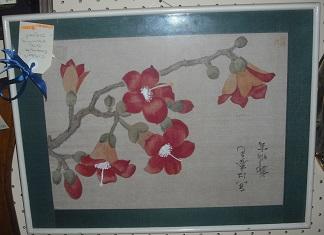 C1930's Silk Painting