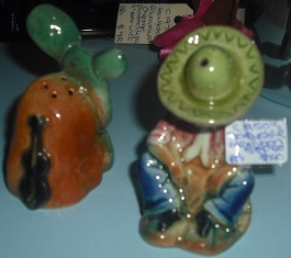 C1950's Derbyshire Mexican Salt & Pepper Shaker Set