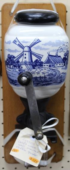 C1950's Delftware Coffee Grinder
