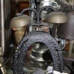 C1900's Blacksmith Forge Horse Shoe Verdigris Bell