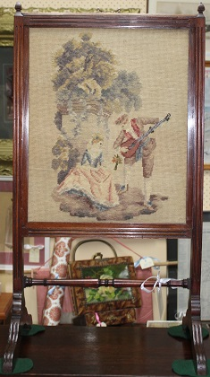 C1800's Tapestry Summer Fire Screen