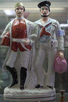 C1860's Staffordshire Flatback Military Soldier & Sailor Figurine