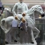 C1860's Staffordshire Flatback Huntsman Figurine