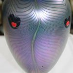 Vintage Iridescent Art Glass Vase