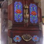Vintage Cloisonne Chinese Jewellery Cabinet