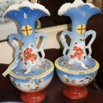 C1900's Pair of Mantle Vases