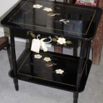 C1920's Lacquered Musical Bedside Table
