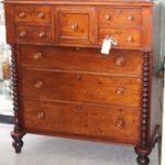 C1860's - 1870's Australian Cedar Tall Boy Breakfront Chest of Drawers