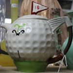 C1950's Novelty Golf Ball Teapot
